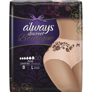 SERVIETTE HYGIÉNIQUE Culottes pour fuites urinaires ALWAYS DISCREET Bou