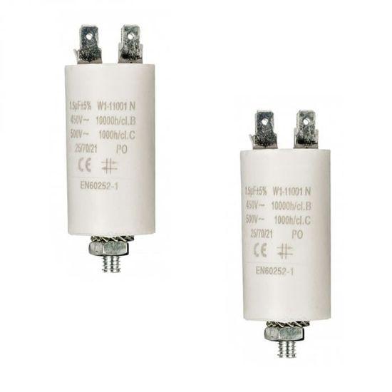 démarrage moteur 1.5MF 1.5µF 450V 5/% condo condensateur permanent à fils