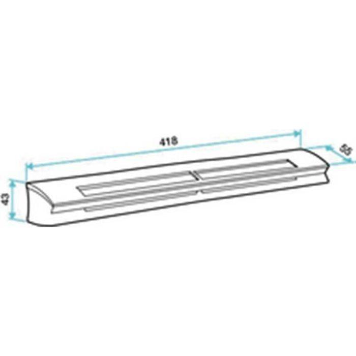 ALDES Entrée d air hygroréglable EHL S socle standard. module 6-45 m3 h et section 5-30cm3 couleur blanc 11014084