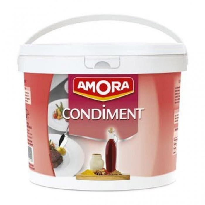 Amora Sauce Moutarde Douce Condiment Maxi Format 5Kg (lot de 2)