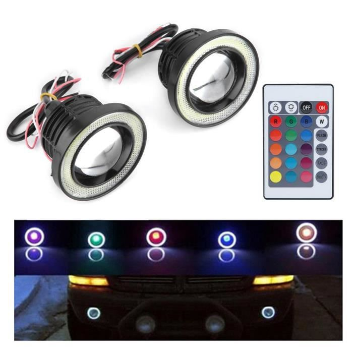 Rouge En Option Fydun Moto Led Feux De Clignotants Universels Clignotants Lampe ABS Durables 2Pcs Bleu /& Rouge