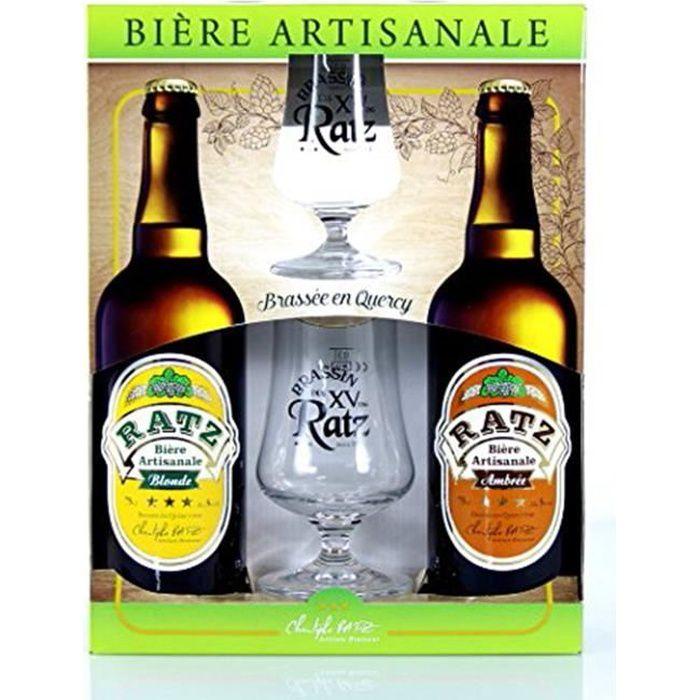 Coffret Bières Artisanales - Coffret 2 Bières 75cl + 2 Verres