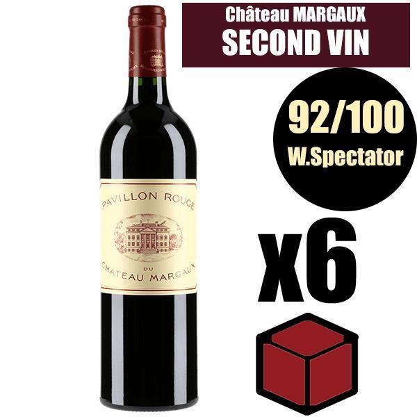 X6 Pavillon Rouge du Château Margaux 2014 75 cl AOC Margaux Rouge 2ème Vin Rouge