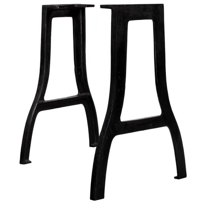 21975-Vintage Pied De Meuble - Pied de table de salle à manger 2 pcs Cadre en A Fonte Support de table Pied de banc - Moderne