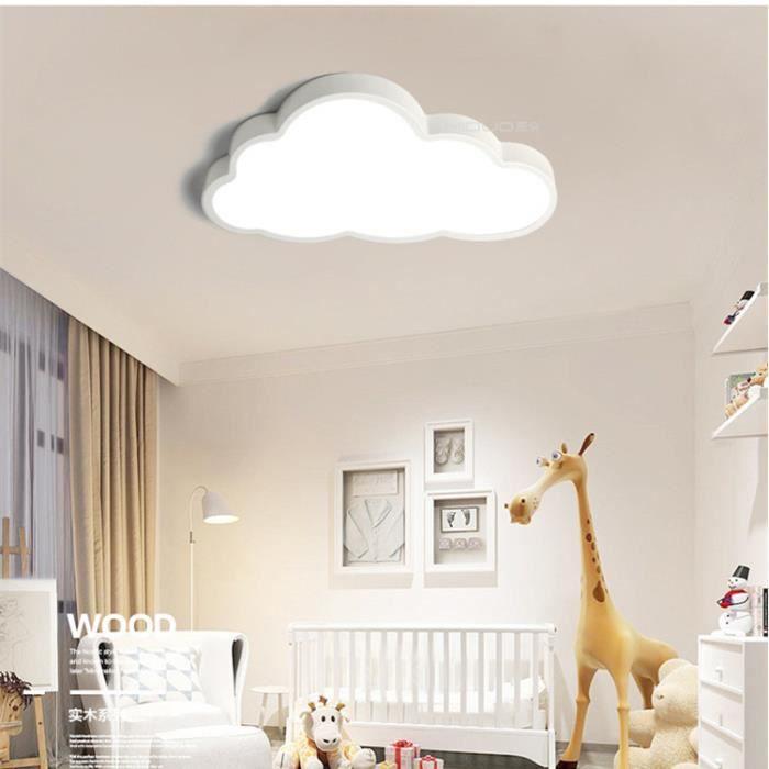 Plafonnier LED chambre enfant 48W Nuage Lampe de plafond LED Moderne lampe plafond Eclairage Maison pour Salon cuisine Chambre Blanc