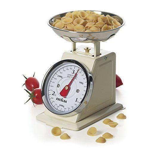 Molecuisine 39984 - ELECTROMENAGER - ASPIRATEUR ROBOT - excèlsa Vintage Crème Balance de cuisine 3kg/10g