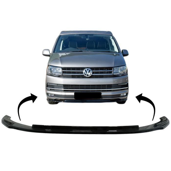 Pare-chocs avant Add-on Becquet Lèvre pour VW Transporter T6 2015+ Noir brillant