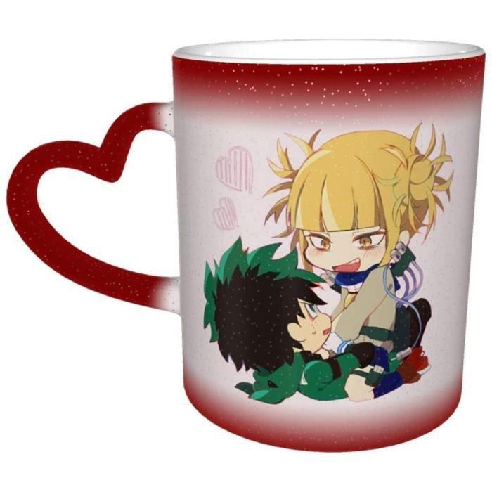 Mon héros Academia Toga X Midoriya Tasse à Changement de Couleur Grand Cadeau de Noël Tasse à café Design 330ml[3985]
