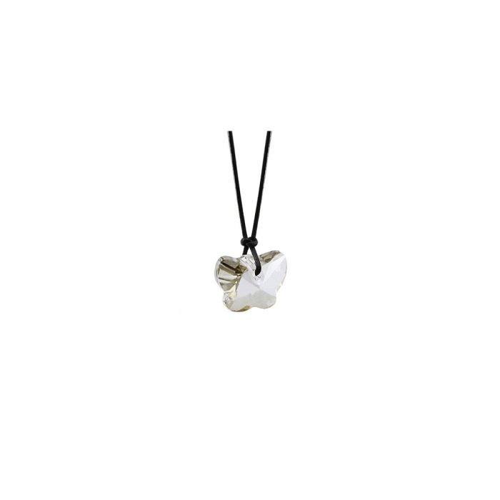 Collier Papillon en Cristal Blanc de Swarovski Elements