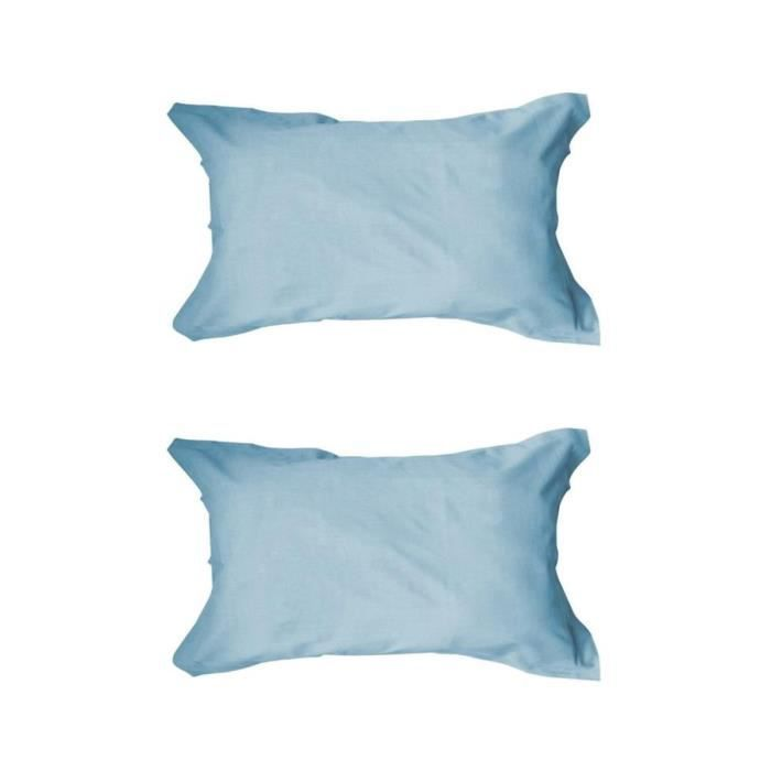 TODAY Lot de 2 taies d'oreiller 50x70cm Portofino Blue