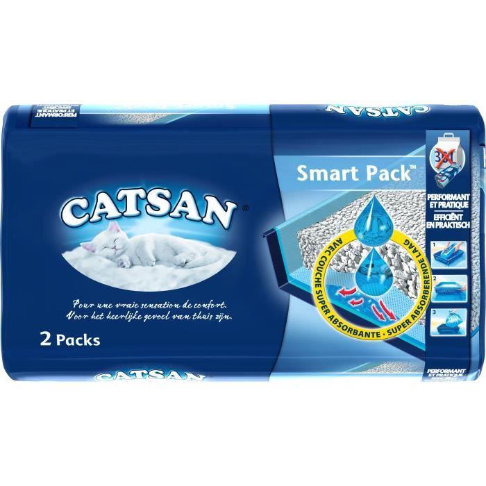 CATSAN Litière et sac prêt à poser Smartpack 2 x 4 l - Pour chat