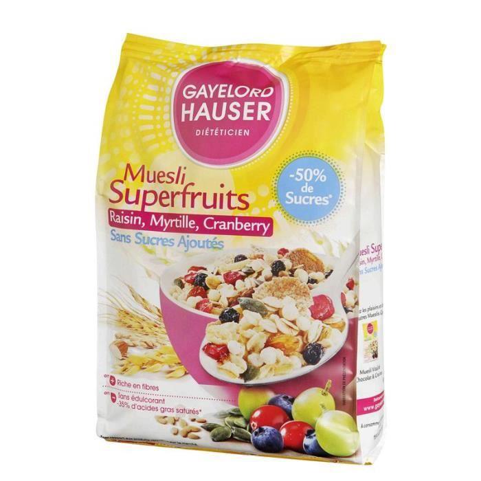GAYELORD HAUSER Muesli superfruits sans sucres ajoutés 350 g