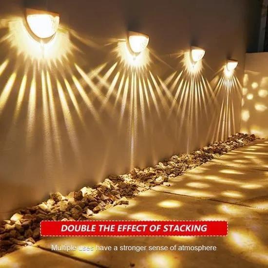 GOBRO/ Solaire allume les lumières extérieures de l'étape solaire de LED lampe imperméables de capteur pour des escaliers cour , 1P