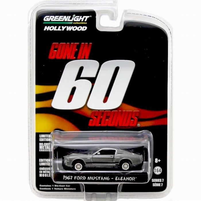 FORD MUSTANG Shelby GT500 Eleanor 1967 60 Secondes Chrono 1/64