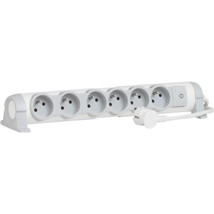 LEGRAND Rallonge multiprise Confort bloc de prises rotatif 6x2 P+T 3 m