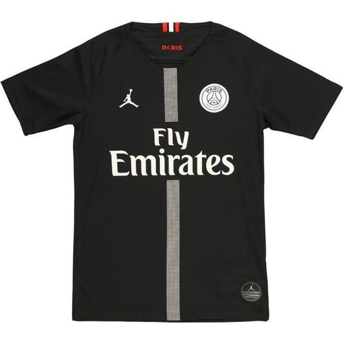 NIKE Jordan Maillot d'entrainement à domicile Breathe Stadium PSG - Noir et blanc - Enfant
