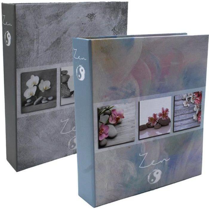 lot de 2 albums photo soft zen 200 pochettes 11x15 2 Motifs Assortis