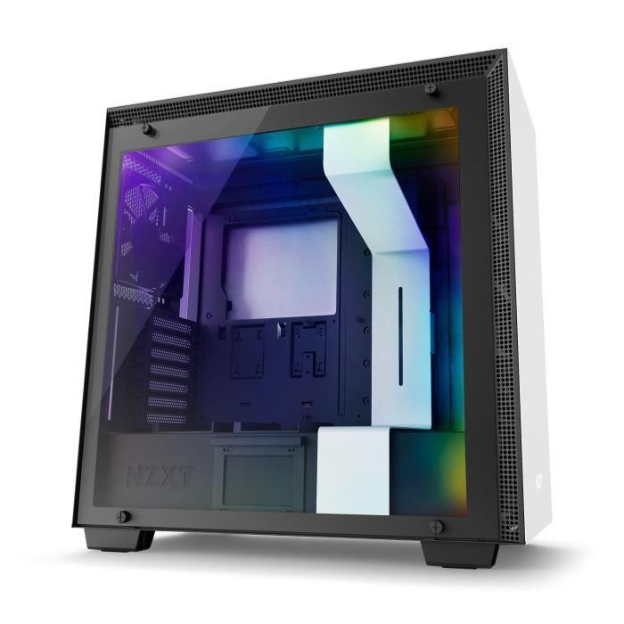 NZXT Boitier PC Moyen Tour H700i Blanc/Noir - Fenêtre