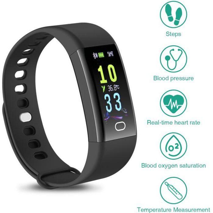 Bracelets d'activité forme, sport & bien-être, Fréquence cardiaque, pression artérielle, température, surveillance de l'oxygène dans