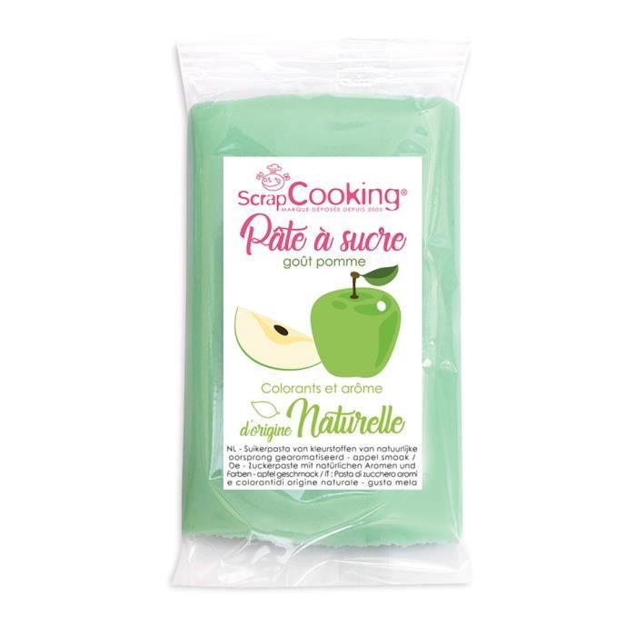 Pâte à sucre vert goût pomme 250g - Scrapcooking Vert