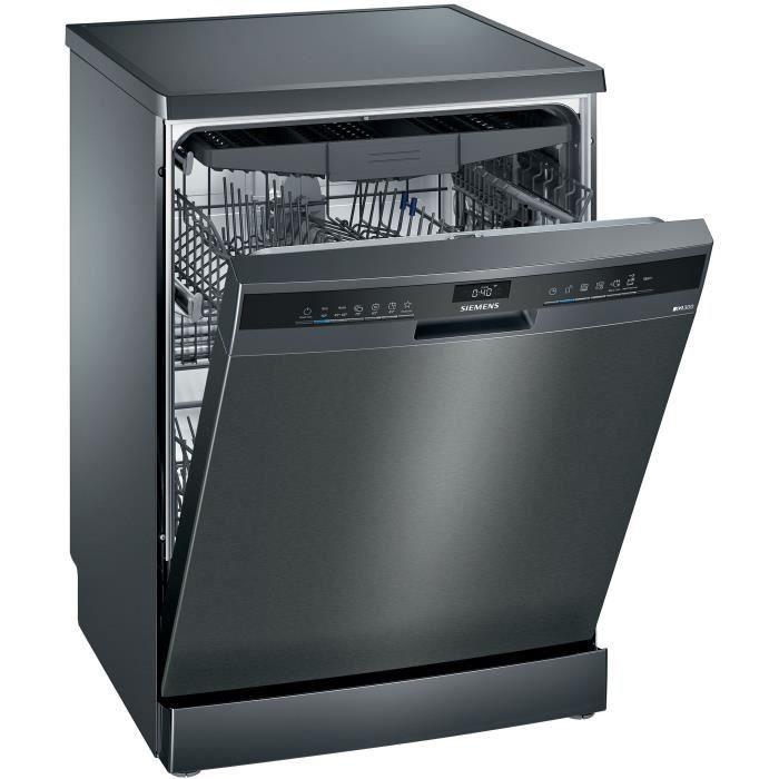 Lave-vaisselle pose libre SIEMENS SN23EC14CE - 13 couverts - Induction - L60cm - 44dB - Black Inox