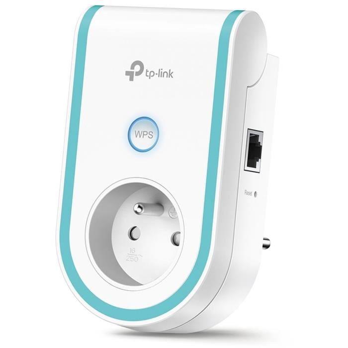 TP-Link RE365(FR) Répéteur WiFi AC 1200 Mbps, 1 Port Ethernet , Prise intégrée FR