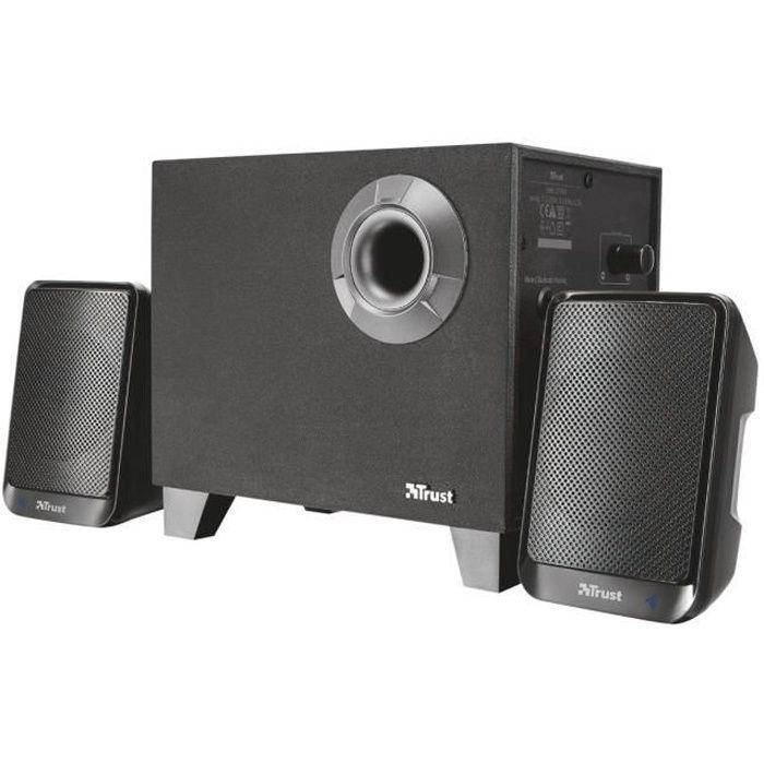 TRUST Evon Bt 2.1 Speaker Set - Enceinte Bt 2.1 - Noir