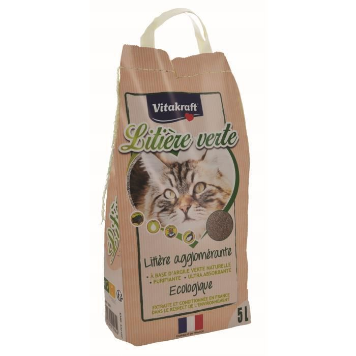 VITAKRAFT Litière verte - 5 L - Pour chat
