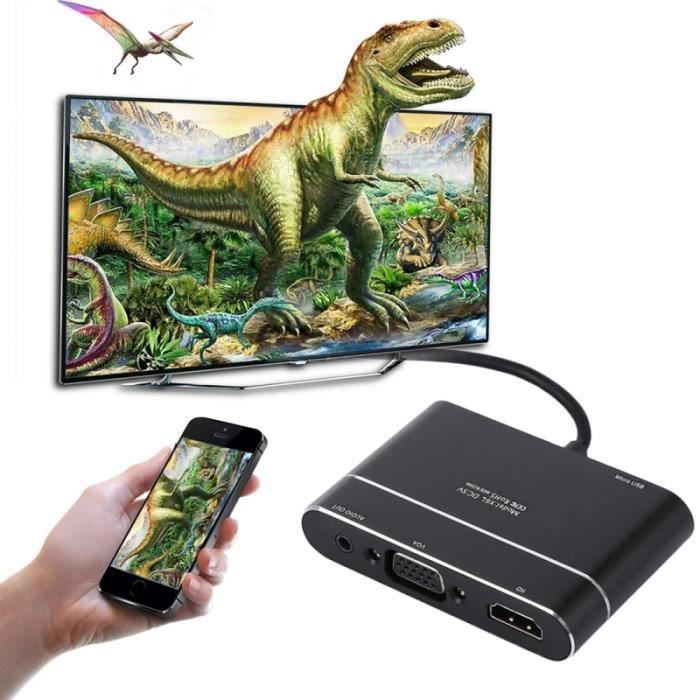 1080p Hdmi Vers Lightning 8 Broches Av Hdmi / Tvhd Tv Numérique Convertisseur Adaptateur De Câble Pour Iphone 8/7/6 / 6s, 197582