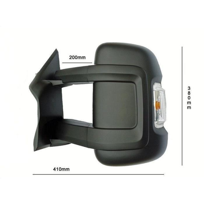 COQUE RETROVISEUR DROIT PASSAGER BRAS LONG PEUGEOT BOXER CITROEN JUMPER FIAT