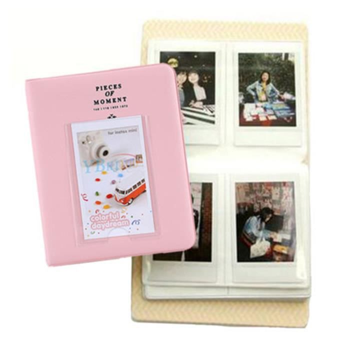 rose 3 64 tui mini album pour fujifilm instax mini8 7s. Black Bedroom Furniture Sets. Home Design Ideas