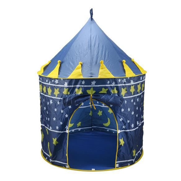 enfant tente castle int rieur ext rieur f rique bleu achat vente tente de camping. Black Bedroom Furniture Sets. Home Design Ideas