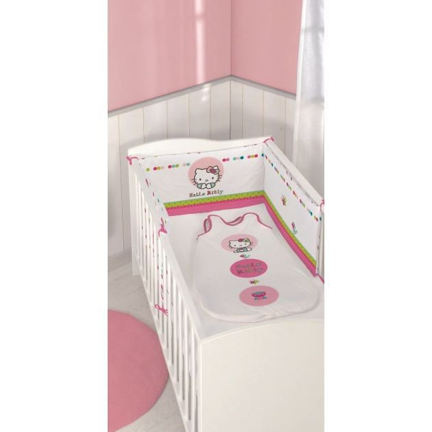 hello kitty tour de lit 40 x 180 cm emma achat vente tour de lit b b hello kitty. Black Bedroom Furniture Sets. Home Design Ideas