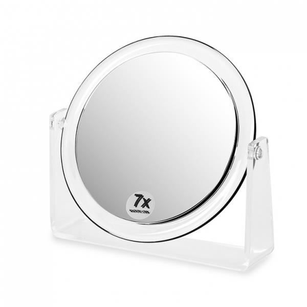 Miroir grossissant vanity 7x rond achat vente miroir for Miroir rond grossissant