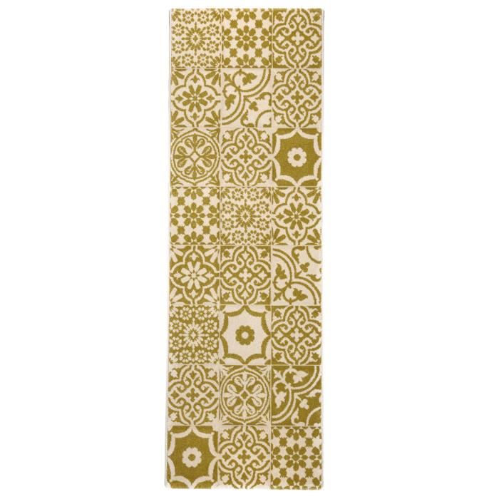 benuta tapis de couloir patchwork mosaico jaune 80x240 cm achat vente tapis cdiscount. Black Bedroom Furniture Sets. Home Design Ideas