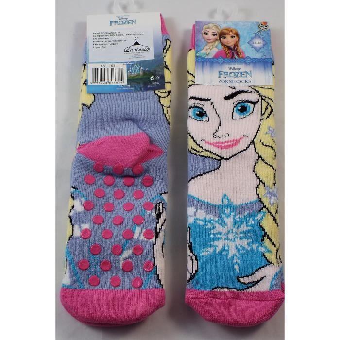 Filles Frozen Disney 4 Neuf Paire de chaussettes 23//26 3//5 ans