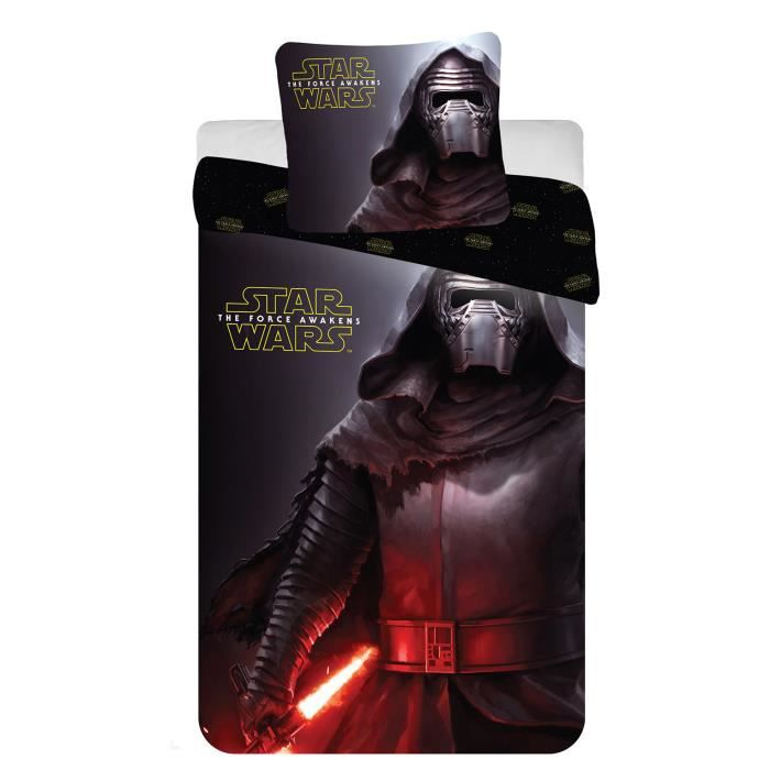 housse de couette taie star wars kylo ren achat vente housse de couette soldes cdiscount. Black Bedroom Furniture Sets. Home Design Ideas