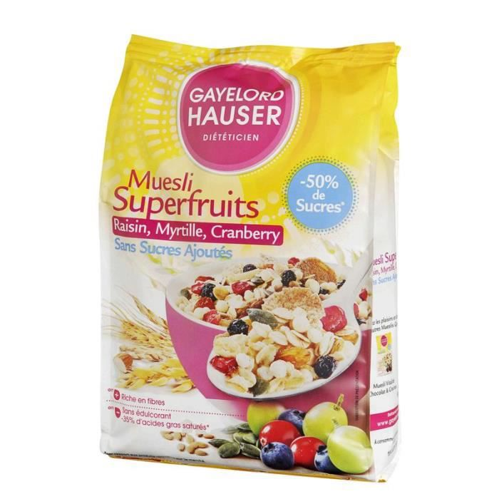 MUESLI GAYELORD HAUSER Muesli superfruits sans sucres ajo