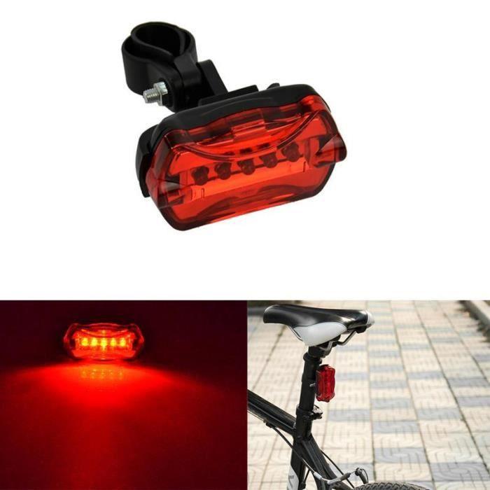 red light batterie au lithium 500 mAh lampe de poche de s/écurit/é pour v/élo r/ésistant /à leau c/âbles USB inclus Feu arri/ère de v/élo LED rechargeable par USB