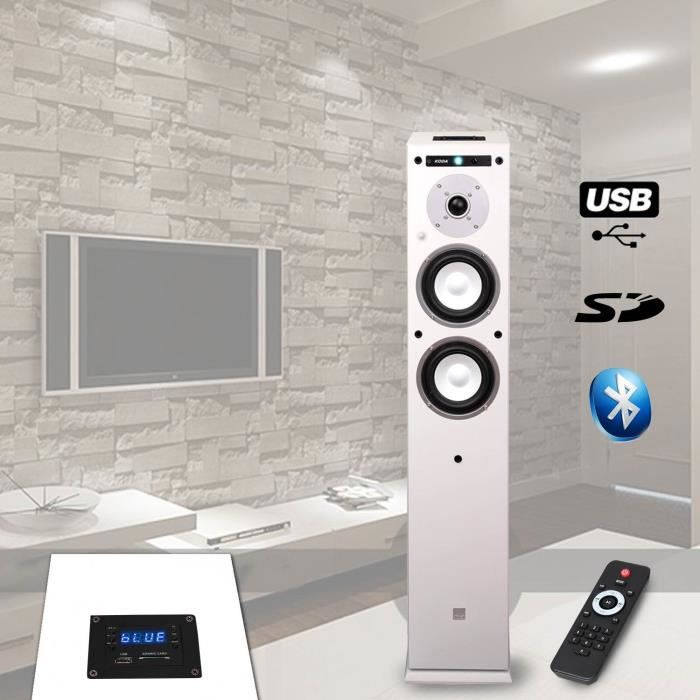 colonne hifi amplifiee usb sd bluetooth 13cm 40w enceintes avis et prix pas cher cdiscount. Black Bedroom Furniture Sets. Home Design Ideas