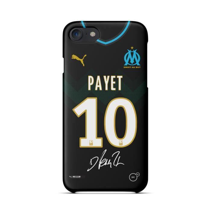 Coque iPhone 7-8,Olympique de Marseille PAYET Noir Coque Bumper ...