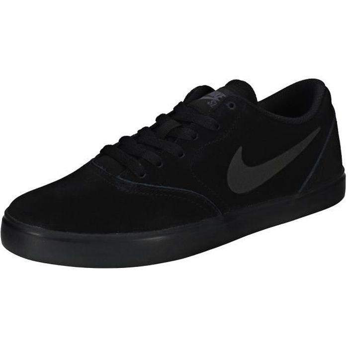 BASKET Nike SB Check Gs Garçon Baskets Anthracite Noire