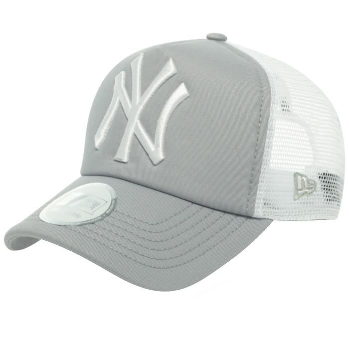 new era trucker casquette new york yankees gris gris achat vente casquette 0886947030849. Black Bedroom Furniture Sets. Home Design Ideas