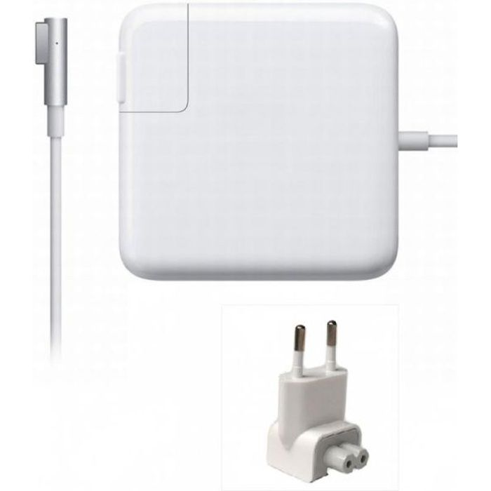 chargeur secteur compatible pour apple macbook prix pas. Black Bedroom Furniture Sets. Home Design Ideas
