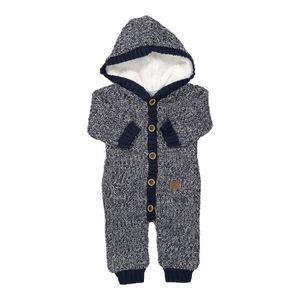 COMBINAISON DIRKJE Combinaison tricot à Capuche Bleu Marine et