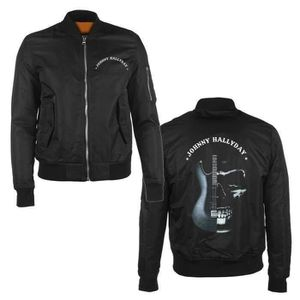 BLOUSON Bombers Guitare Johnny Hallyday - Femme - Noir