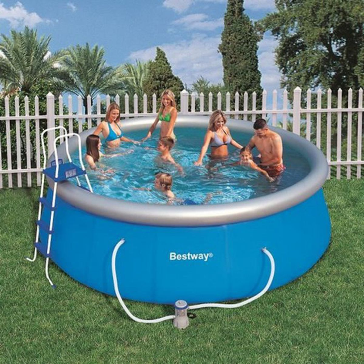 Piscine autoportante fast set 457 x 122 cm bestway achat for Achat piscine autoportante