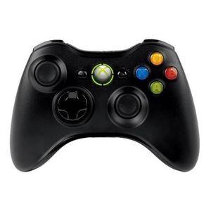 MANETTE JEUX VIDÉO Manette sans fil noire Xbox 360