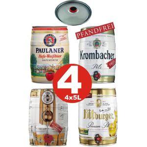 BIÈRE 4x futs 5L bière allemande Paulaner Krombacher Bit