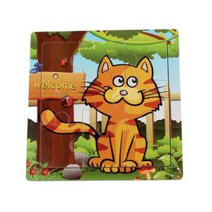 PUZZLE Puzzle jouet de chat en bois éducatif jouet de for
